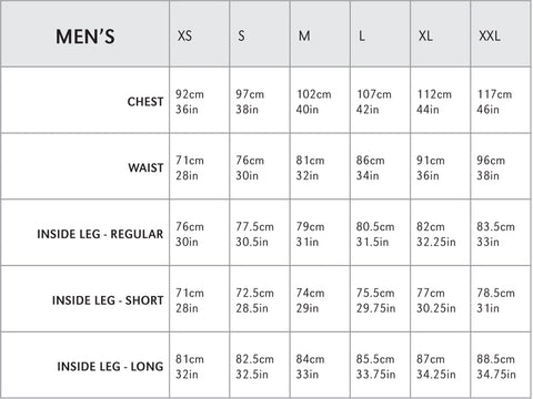 Montane male size guide