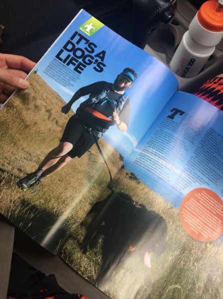 NZ Trail runner magazine, running with dogs