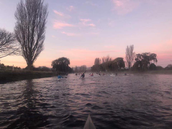 Early morning winter paddle