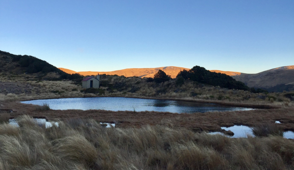 sunrise over tarn hut