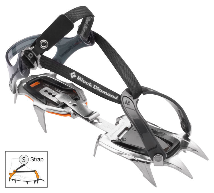 Black Diamond Contact Strap Stainless Steel Crampons with ABS