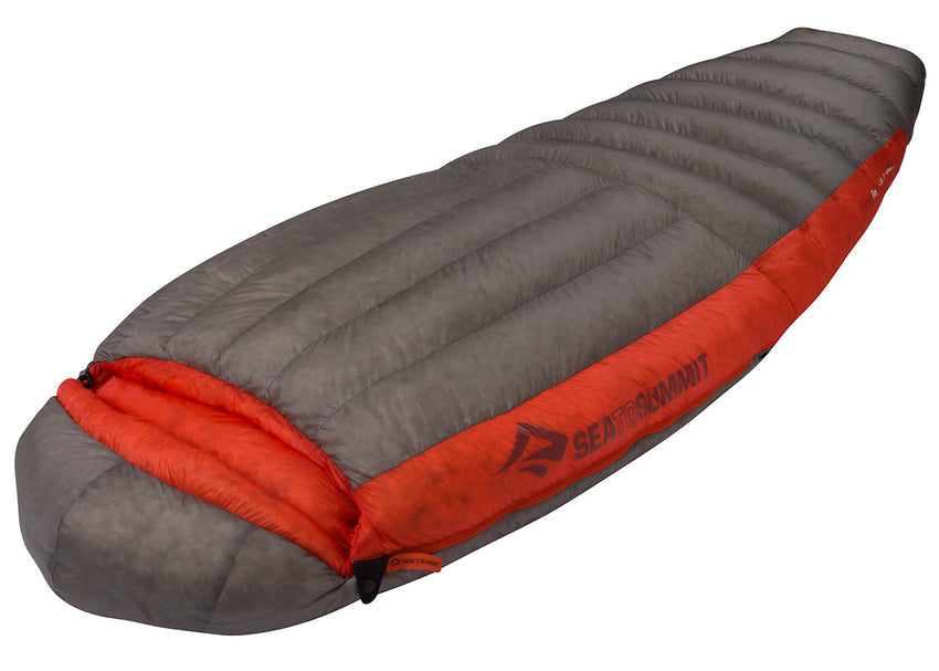Women's down sleeping bag nz side view Sea to Summit Flame