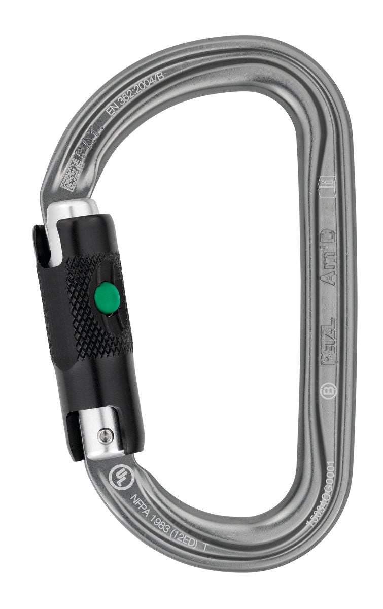 Petzl AM'D Carabiner - Ball Lock | Quickdraws & Carabiners | NZ