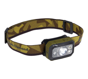 Black Diamond Storm 375 Headlamp | Camping and Hiking | NZ Dark olive