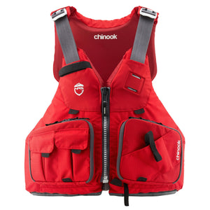 NRS Chinook Fishing PFD Red