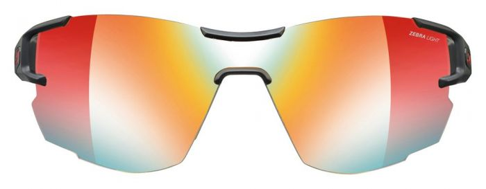 Julbo Aerolite Black/Red Zebra Light Fire Lens | Trail Running Sunglasses
