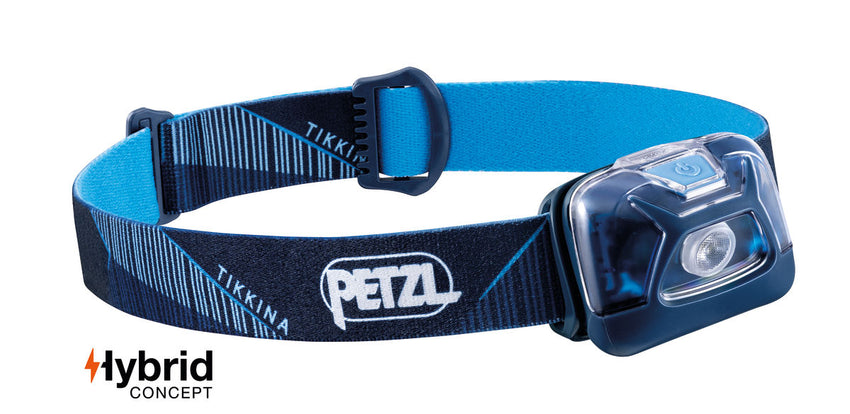 Petzl Tikkina Headlamp | Camping and Hiking | NZ Blue