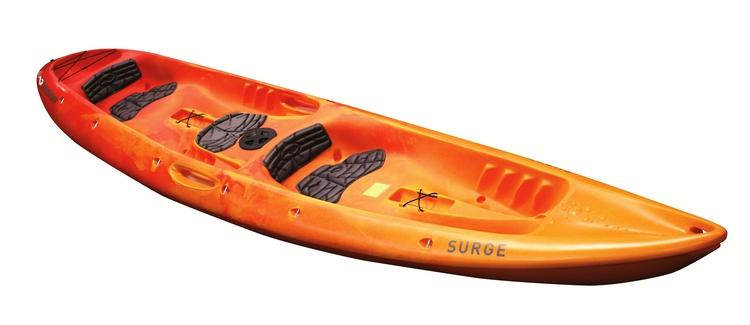Mission surge kayak orange fade