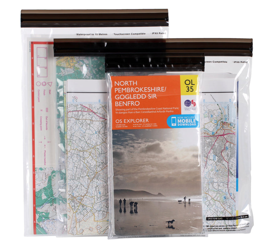 Lifeventure Dristore Loctop Bags Maps | Waterproof Map Case | NZ