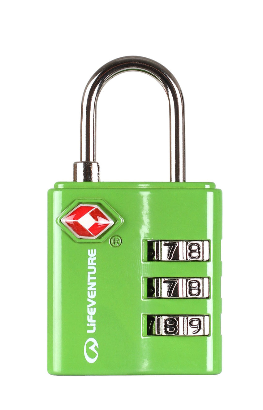Lifeventure TSA Combi Lock | Travel and Luggage Locks | NZ Green