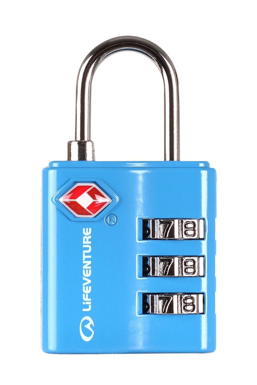 Lifeventure TSA Combi Lock | Travel and Luggage Locks | NZ Blue