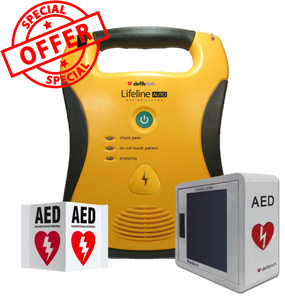 "Defibtech Fully Automatic Defibrillator AED ""Cabinet Bundle"""