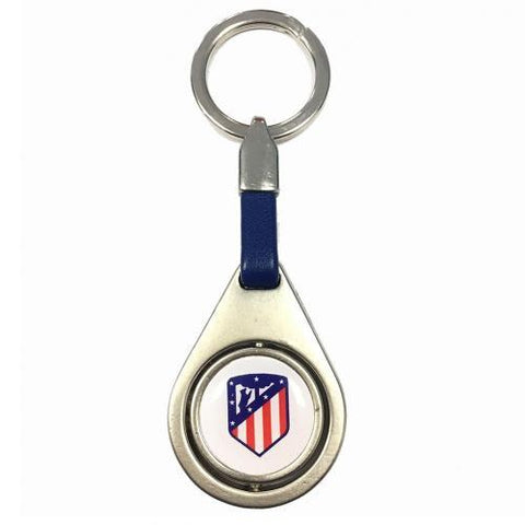 Atletico Madrid FC Spinner Keyring