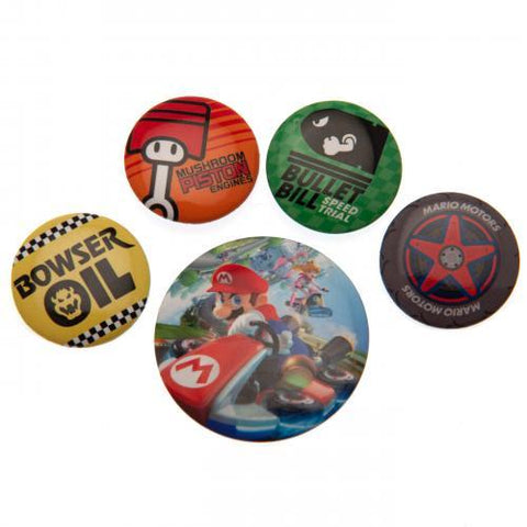 Mario Kart Button Badge Set
