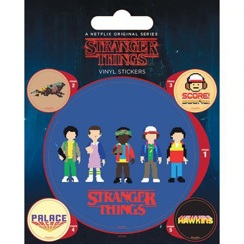 Stranger Things Stickers Arcade