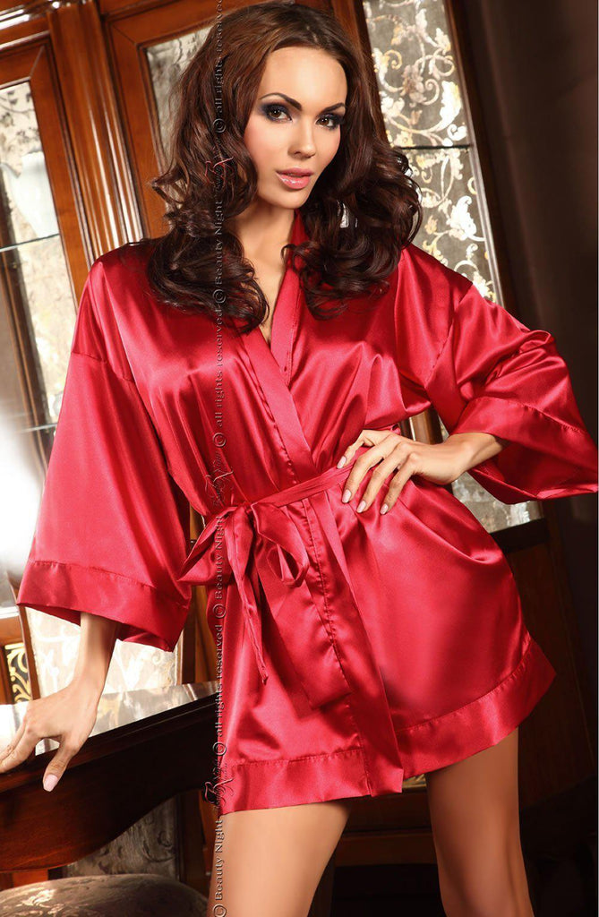aggie Red Dressing Gown | AYNAYA Women's Lingerie