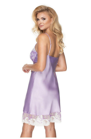 Androeda Nightdress Lavender Chemise Nightdress for Women | AYNAYA Women's Lingerie
