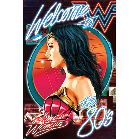Wonder Woman Poster Welcome To The 80s 94