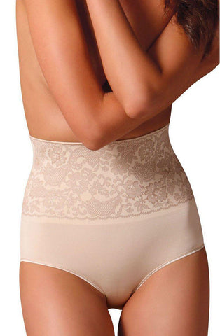 Control Body 311572 Ch Shaping Brief With Screen Print Lace Skin Women Briefs Shapewear | AYNAYA Women's Lingerie