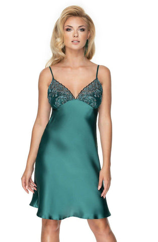 Eerald Ii Nightdress Dark Green Nightdress for Women | AYNAYA Women's Lingerie