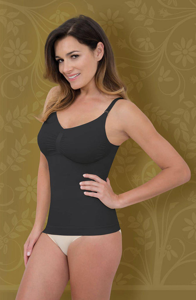 Firm Compression Camisole Black Shapewear Camisole | AYNAYA Women's Lingerie