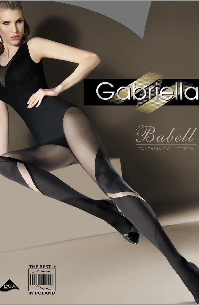 Gabriella Fantasia Babell Nero Black Women Tights | AYNAYA Women's Lingerie