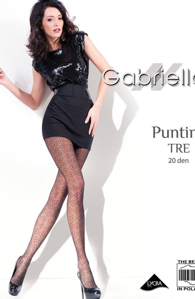 Gabriella Fantasia Puntina Tre WOW Tights Nero Women Tights | AYNAYA Women's Lingerie