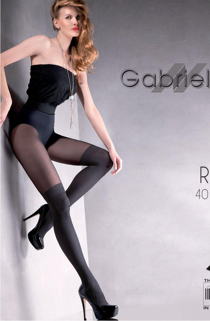 Gabriella Fantasia Rita 7 Tights Nero Women Tights | AYNAYA Women's Lingerie