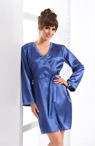 Gloria Navy Dressing Gown | AYNAYA Women's Lingerie