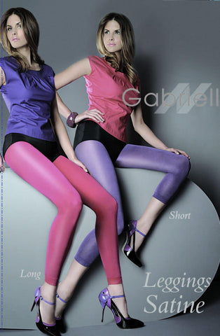 Glossy Look Ankle Length Cyklamen Leggings Tights | AYNAYA Women's Lingerie