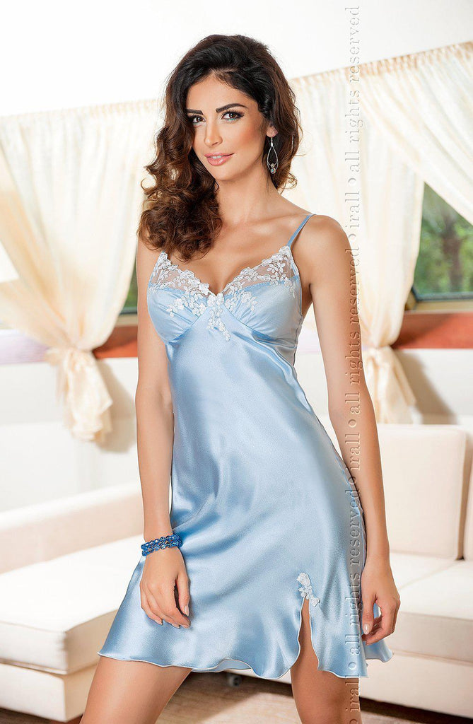 Linda Nightdress Sky Blue Sky Blue Larg Nightdress for Women | AYNAYA Women's Lingerie