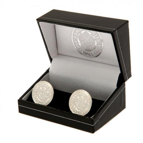 Leicester City FC Silver Plated Formed Cufflinks