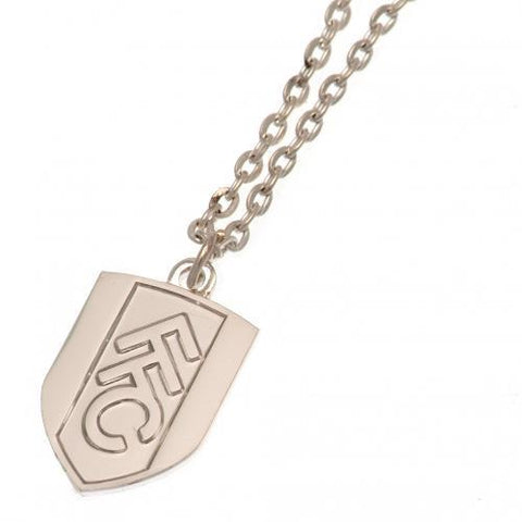 Fulham FC Silver Plated Pendant & Chain