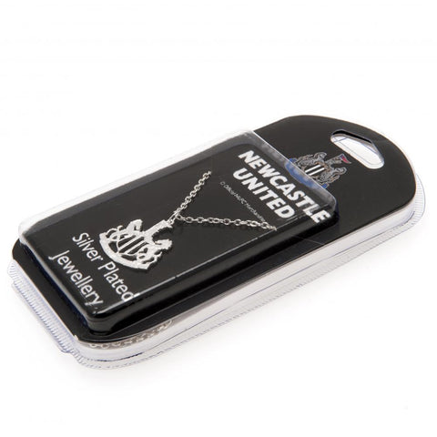 Newcastle United FC Silver Plated Pendant & Chain