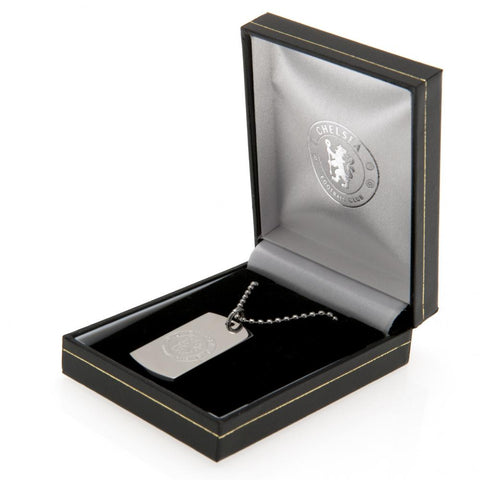 Chelsea FC Engraved Dog Tag & Chain
