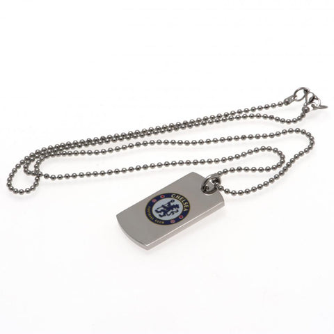 Chelsea FC Colour Crest Dog Tag & Chain