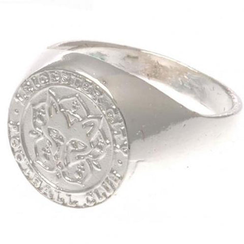 Leicester City FC Silver Plated Crest Ring Medium