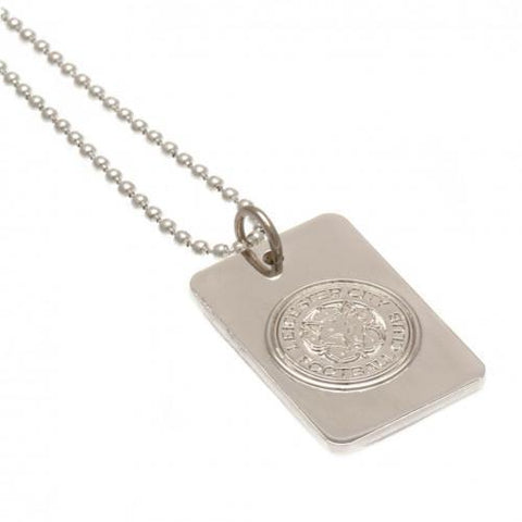 Leicester City FC Silver Plated Dog Tag & Chain