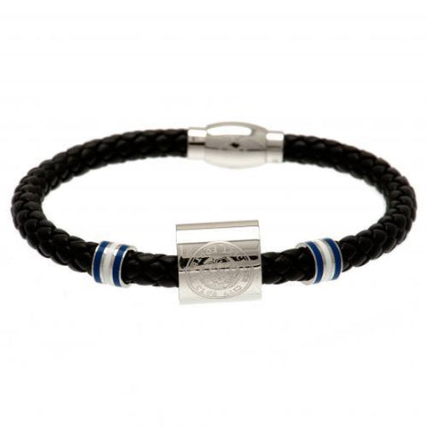 Leicester City FC Colour Ring Leather Bracelet