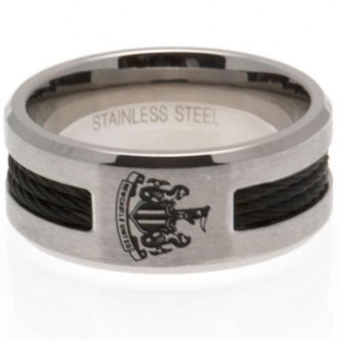 Newcastle United FC Black Inlay Ring Small