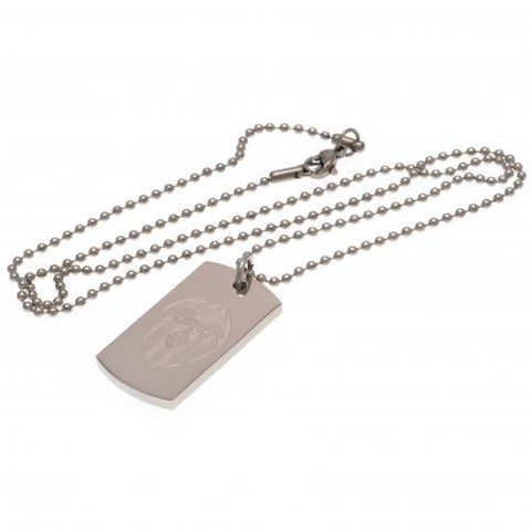 Valencia CF Engraved Dog Tag & Chain