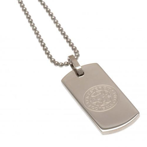 Leicester City FC Narrow Dog Tag & Chain