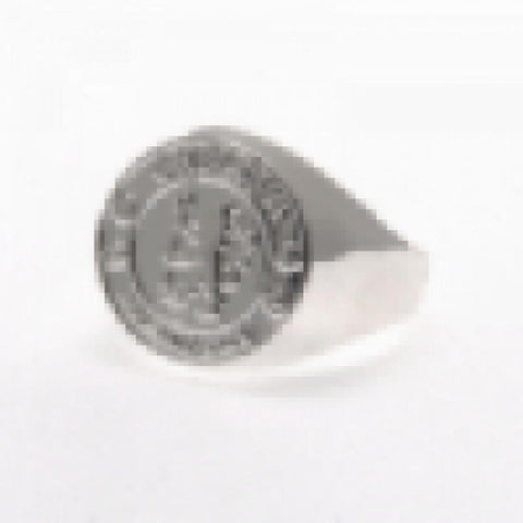 Chelsea FC Silver Plated Crest Ring Small