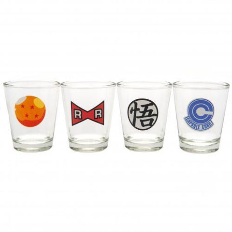 Dragon Ball Z 4pk Shot Glass Set