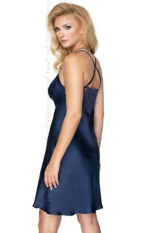 Rei Nightdress Navy Blue Nightdress for Women | AYNAYA Women's Lingerie