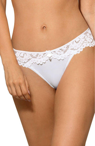 Roza Newia White Brief Women Briefs | AYNAYA Women's Lingerie
