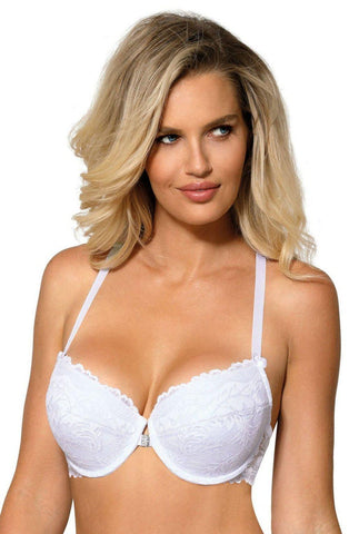 Roza Sefia Push Up Bra White Women Thong | AYNAYA Women's Lingerie