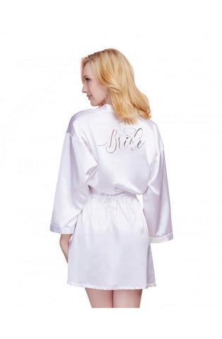 Satin Charmeuse Bride to be Dressing Gowns | AYNAYA Women's Lingerie