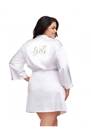 Satin Charmeuse Bride to be Dressing Gowns Plus Sizes | AYNAYA Women's Lingerie
