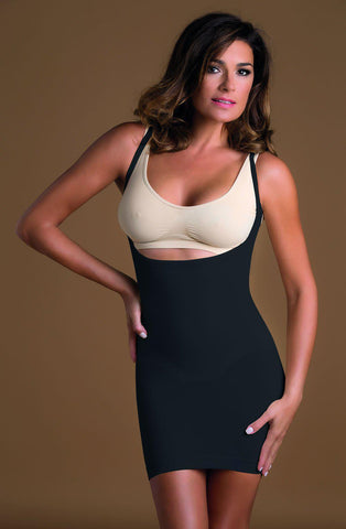 Shaping Open Bust Full Slip Nero Shapewear | AYNAYA Women's Lingerie